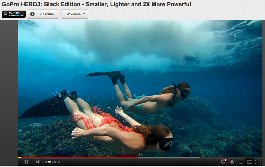 Two girls snorkeling, underwater shot