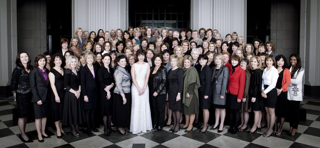 Image of all the winners of the Top 100 Women Awards
